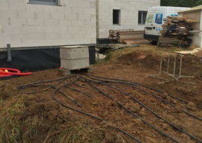 Collecteur geothermie horizontale