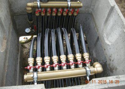 Collecteur geothermique test de pression